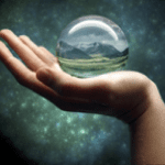 hand with crystal ball