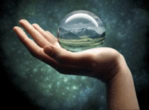 hand with crystal ball