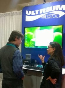 Figure 1: Attendees get up-close look at LTO-7 Technology